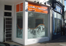 Fascia and frosted window graphics.