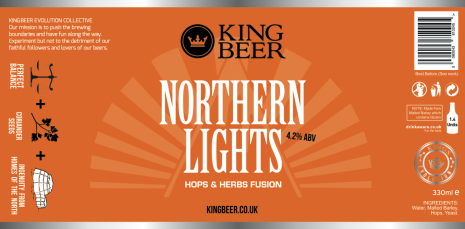 KingBeer Northern Lights label