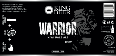 KingBeer Warrior label