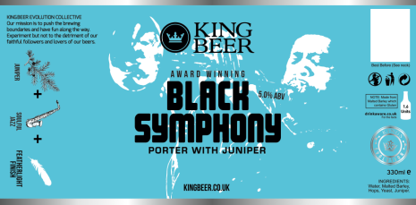 KingBeer black symphony label