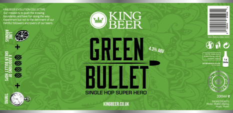KingBeer Green bullet label