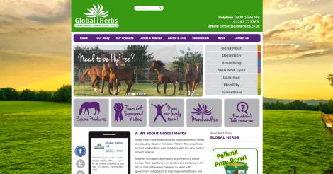 Global Herbs new site