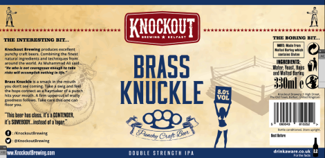 brass knuckle label