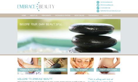 Embrace Beauty homepage