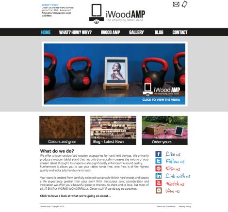 iWood AMP homepage