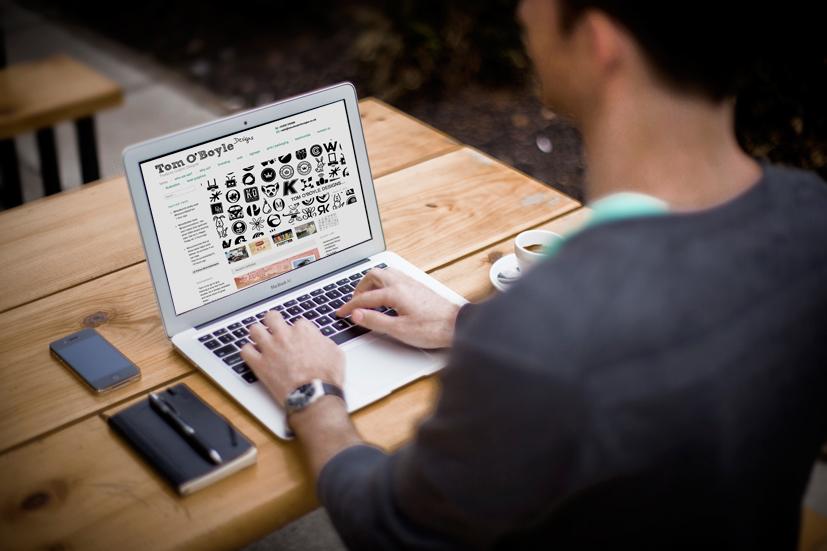 Tom O'Boyle Designs laptop